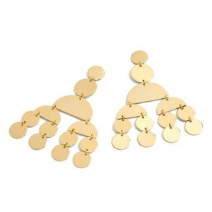J Crew gold chandelier statement earrings